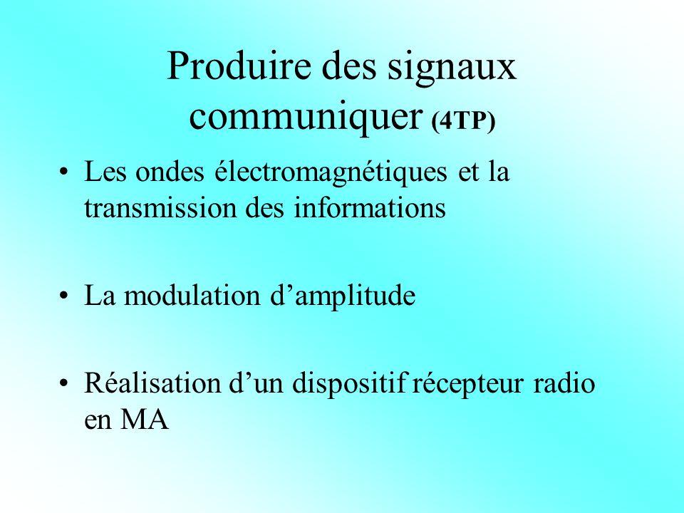C.Produire des signaux, communiquer ( 4 séquences de 2 heures) Séquence 1 C.1.
