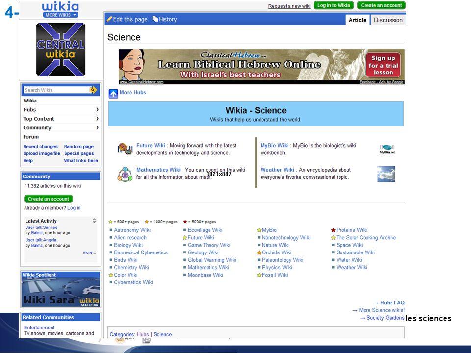 4- Concurrent à wikipédia Utilisation du wiki pour l enseignement des sciences Christophe BATIER