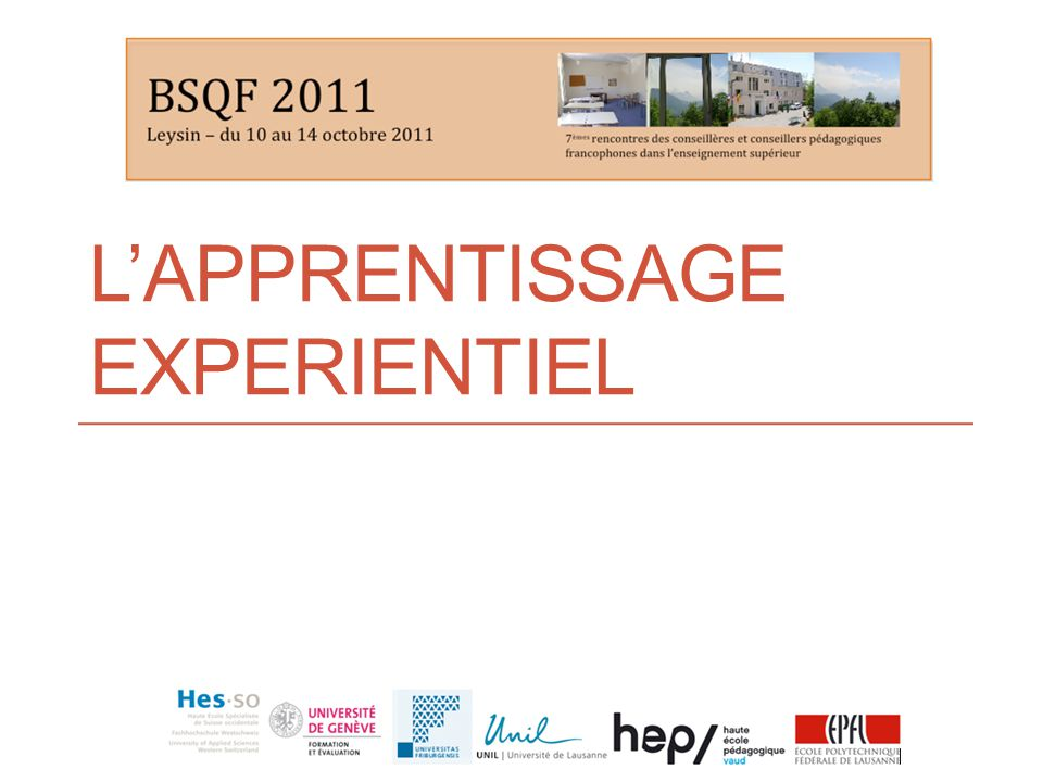 LAPPRENTISSAGE EXPERIENTIEL