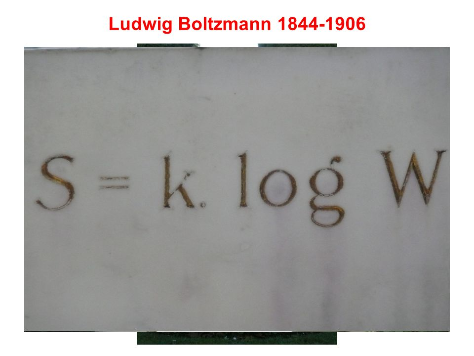 même si (daprès Uffink 2006) Boltzmann na pas écrit cette formule, mais : k B dans les unités de Boltzmann S S = k B ln
