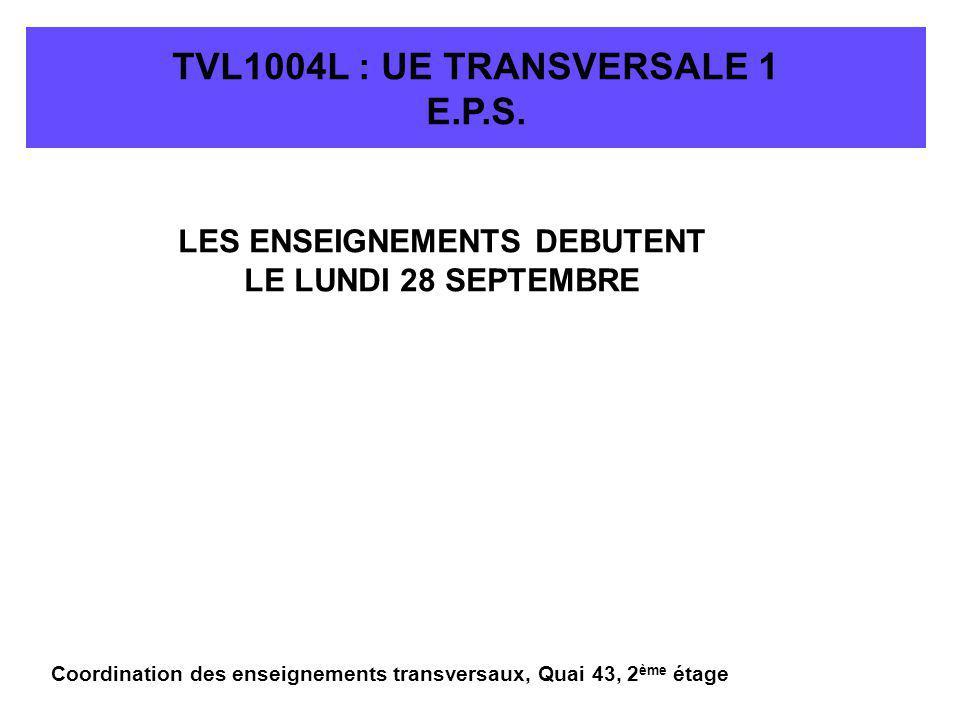 TVL1004L : UE TRANSVERSALE 1 E.P.S.