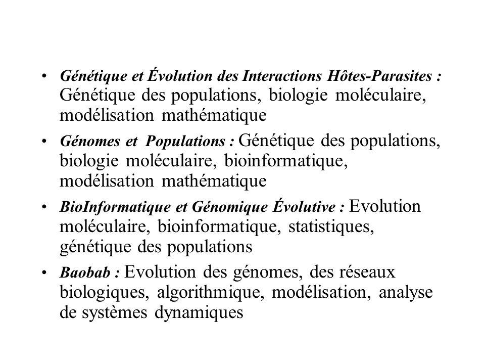 Génétique et Évolution des Interactions Hôtes-Parasites : Génétique des populations, biologie moléculaire, modélisation mathématique Génomes et Popula