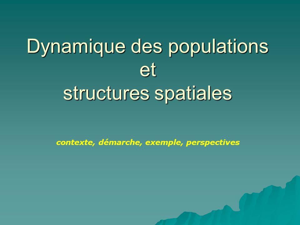 Dynamique des populations et structures spatiales contexte, démarche, exemple, perspectives