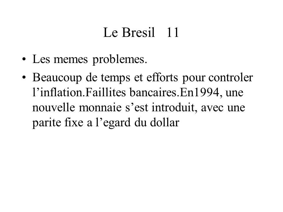 Le Bresil 11 Les memes problemes.