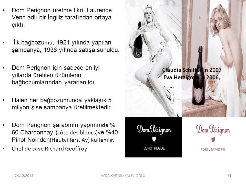 Dom Perignon üretme fikri, Laurence Venn adlı bir İngiliz tarafından ortaya çıktı. İlk bağbozumu, 1921 yılında yapılan şampanya, 1936 yılında satışa s
