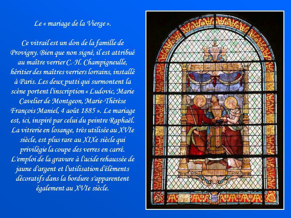 « Marthe et Marie », peinture dAgostino Scilla de 1679, visible dans le chœur de léglise Saint-Quentin, inscrite au patrimoine, est classée depuis 198