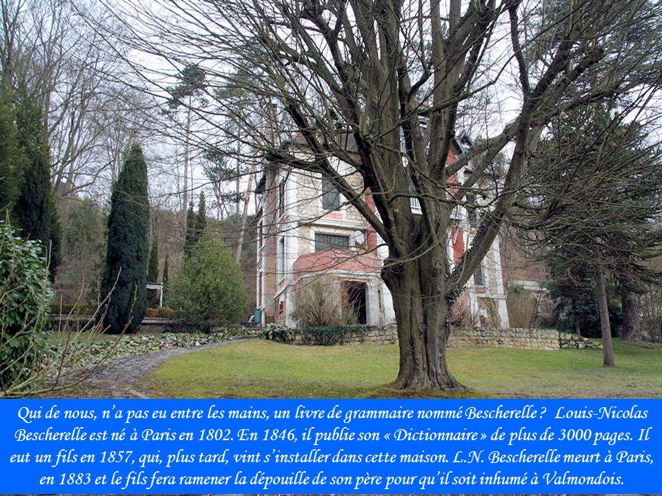 A partir de 1919, lécrivain Georges Duhamel (1884-1966) passe les saisons estivales à Valmondois, puis, en 1925, il acquiert cette grande maison entourée dun parc.