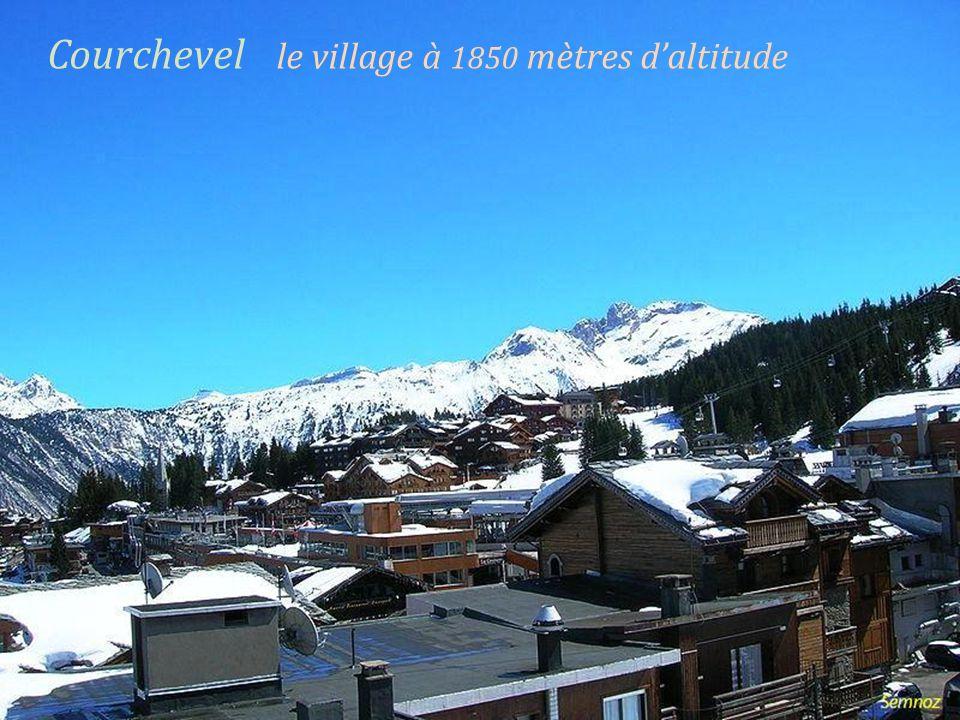 Courchevel le village à 1850 mètres daltitude