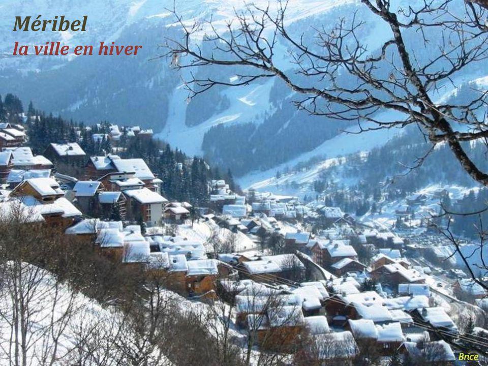 Méribel la ville en hiver