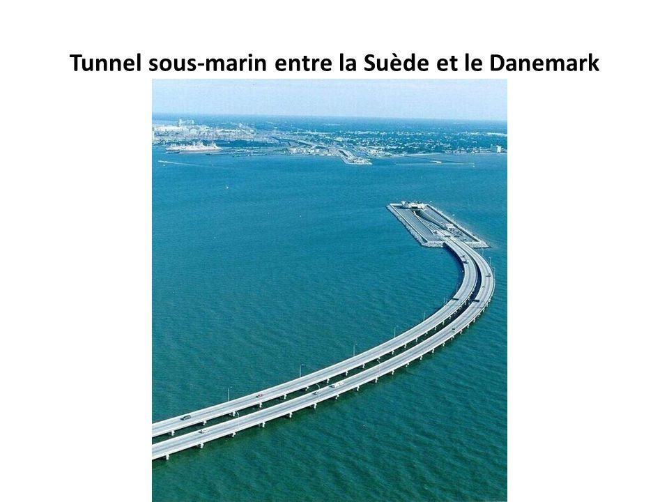 Tunnel sous-marin entre la Suède et le Danemark