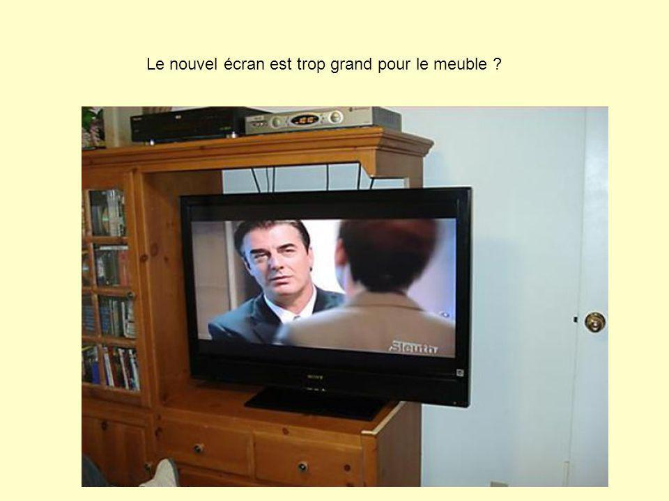 Le nouvel écran est trop grand pour le meuble ?