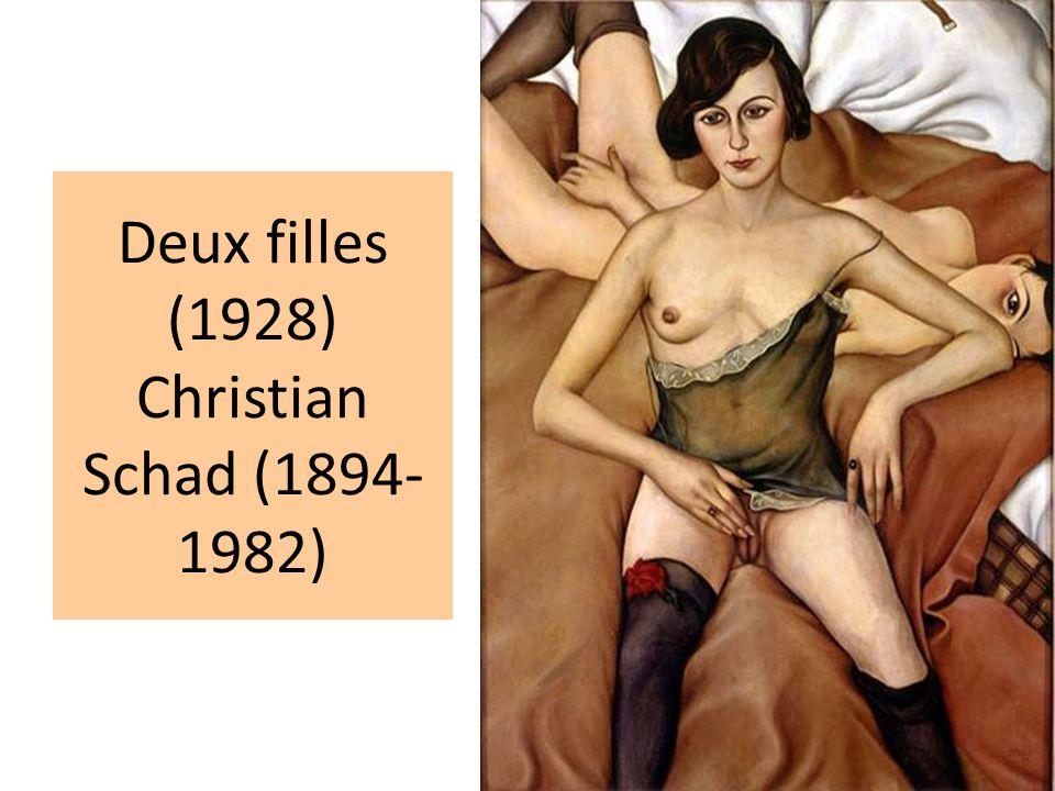 Deux filles (1928) Christian Schad (1894- 1982)