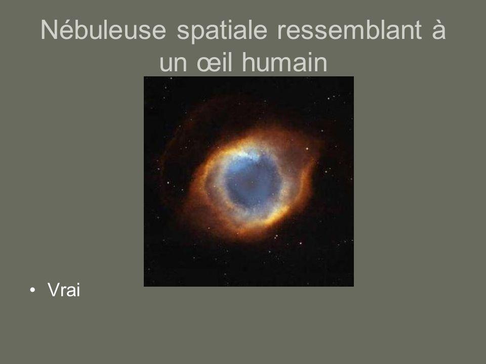 Nébuleuse spatiale ressemblant à un œil humain Vrai