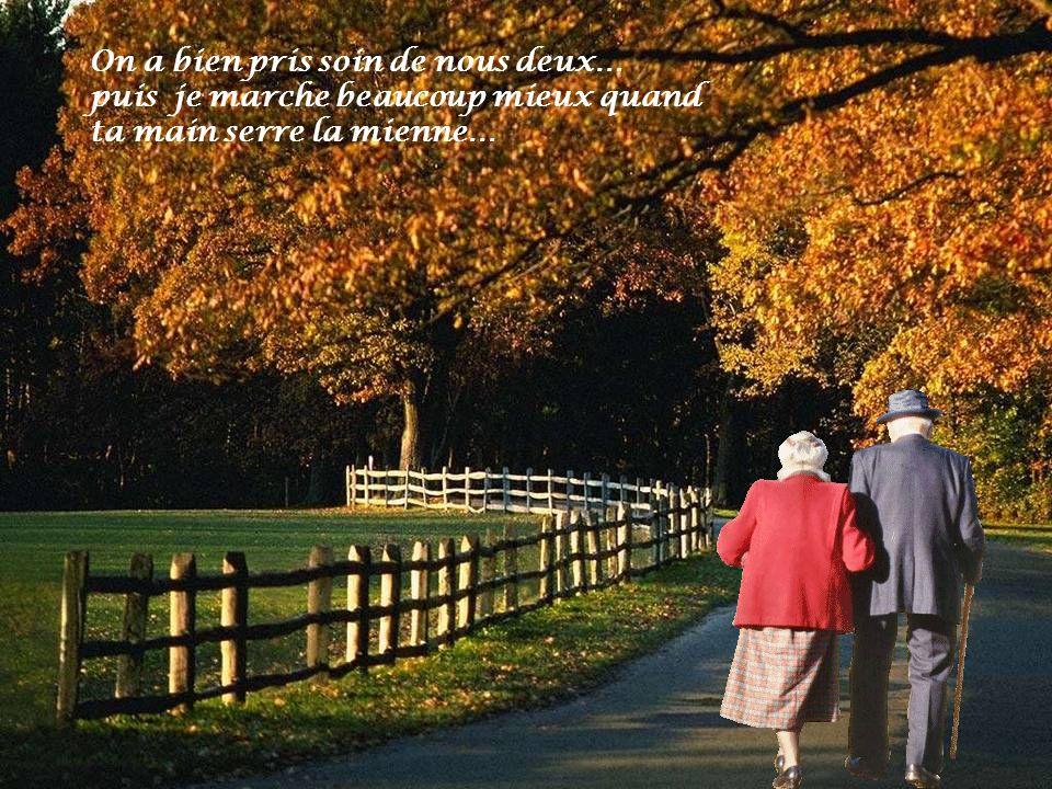 Le bonheur est fait de ptites choses toutes simples tu sais… puis en vieillissant le cœur sattendrit….