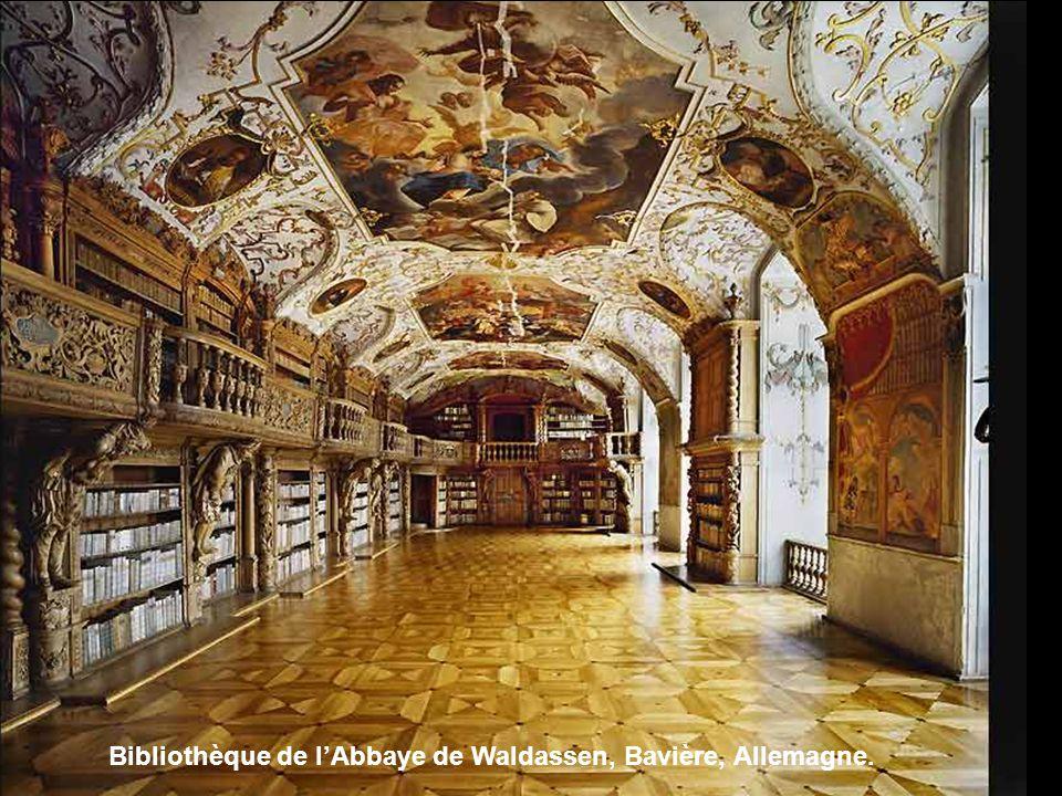 Bibliothèque bénédictine de lAbbaye de Metten, Allemagne.