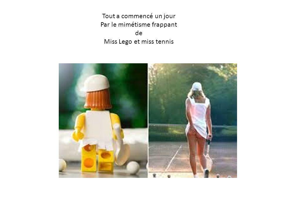 Tout a commencé un jour Par le mimétisme frappant de Miss Lego et miss tennis
