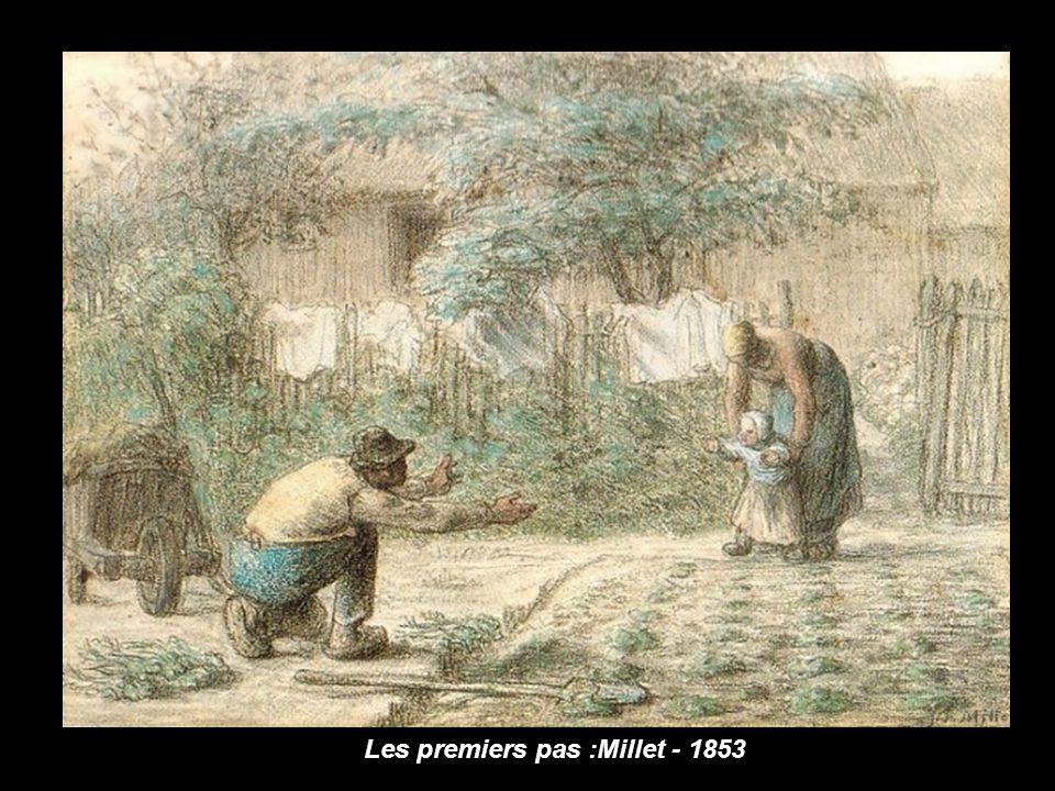 Vincent Van Gogh alors agé de 22 ans découvrit un peu par hasard le travail de Millet et son admiration saccentua par la suite. Millet sera le guide e