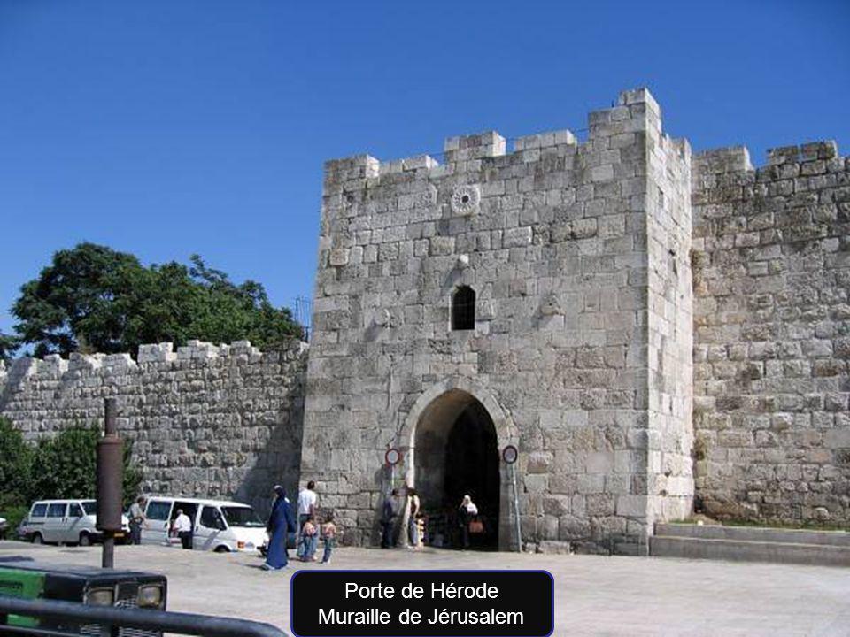 Porte de Hérode Muraille de Jérusalem