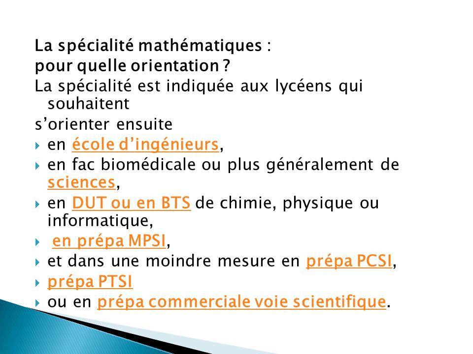 La spécialité physique-chimie : pour quelle orientation .
