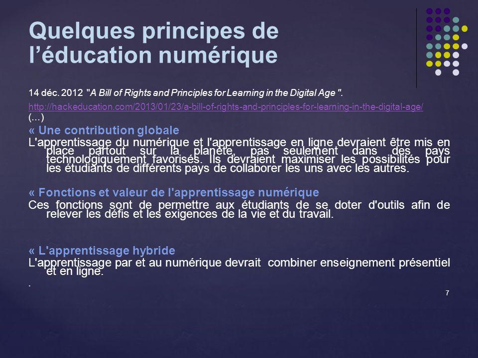 Quelques principes de léducation numérique 14 déc.