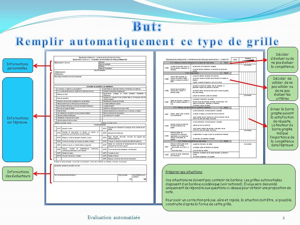 13 Exemple: Le candidat « Dupond Jean » a réalisé lépreuve E32 (situation A) et a 14/20.