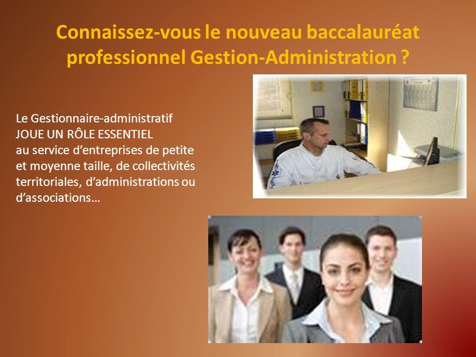 Ce diplôme vous permettra daccéder à lun des métiers suivants : -Gestionnaire administratif ; -Assistant administratif ; - Secrétaire administratif ; - Gestionnaire commercial ; -Assistant de gestion ; -Gestionnaire du personnel ; -etc.