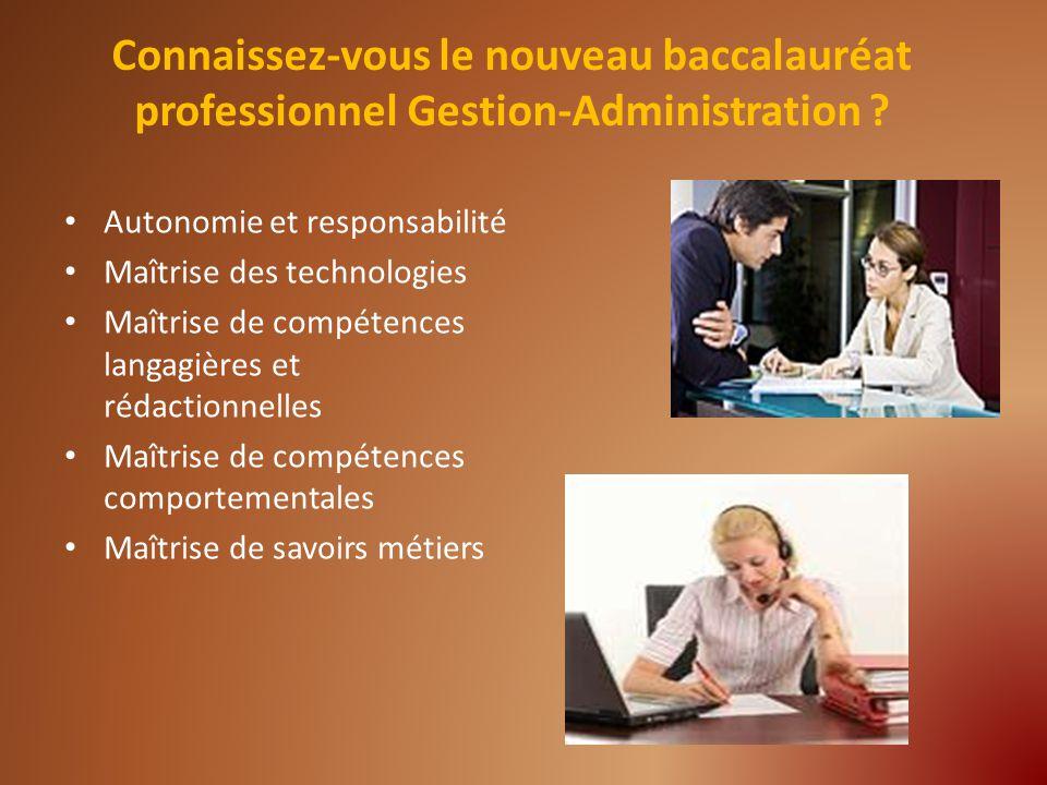 Autonomie et responsabilité Maîtrise des technologies Maîtrise de compétences langagières et rédactionnelles Maîtrise de compétences comportementales