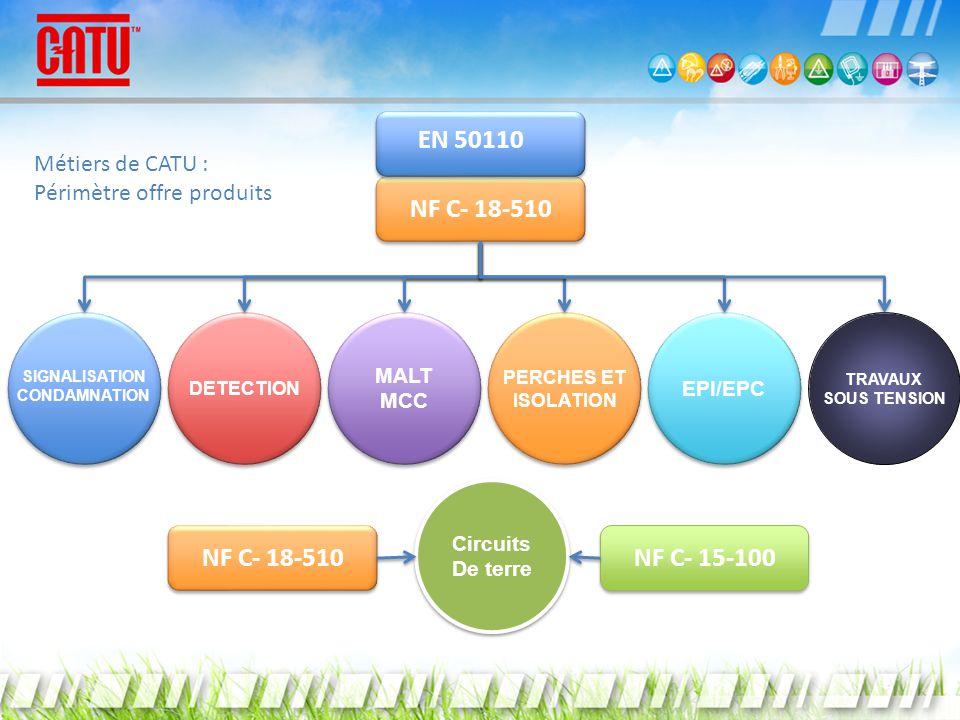 DETECTION MALT MCC MALT MCC PERCHES ET ISOLATION PERCHES ET ISOLATION EPI/EPC TRAVAUX SOUS TENSION Circuits De terre Circuits De terre SIGNALISATION C