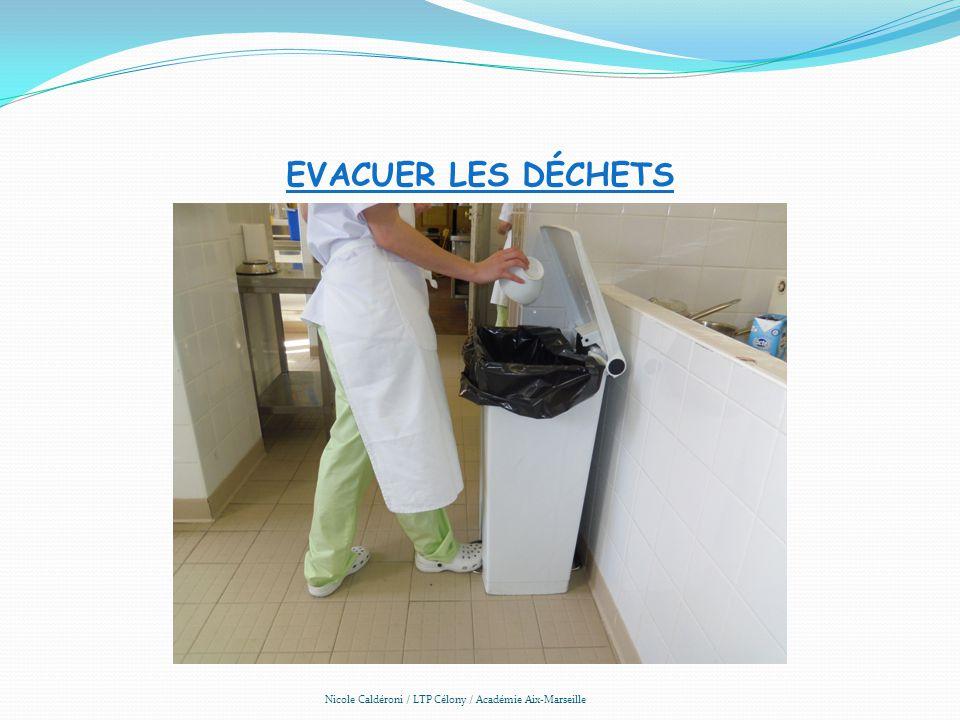 EVACUER LES DÉCHETS Nicole Caldéroni / LTP Célony / Académie Aix-Marseille