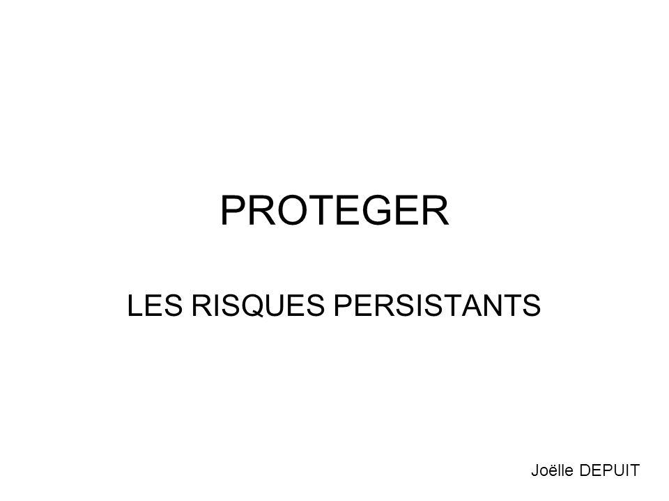 PROTEGER LES RISQUES PERSISTANTS Joëlle DEPUIT