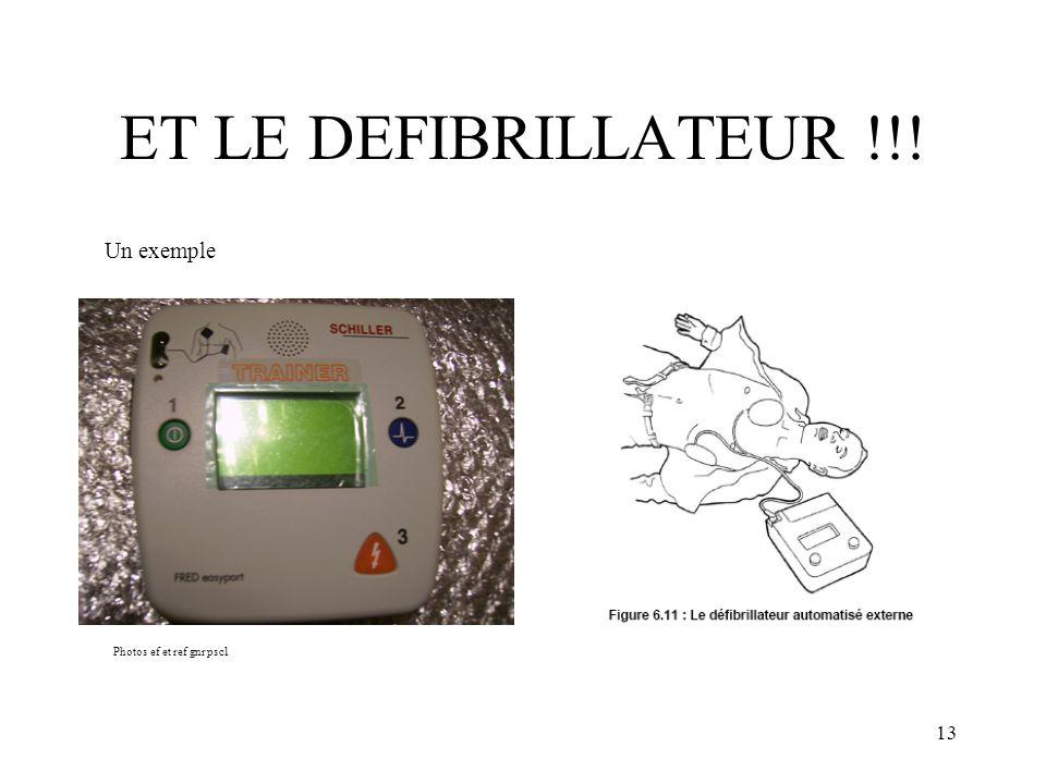 13 ET LE DEFIBRILLATEUR !!! Photos ef et ref gnr psc1 Un exemple