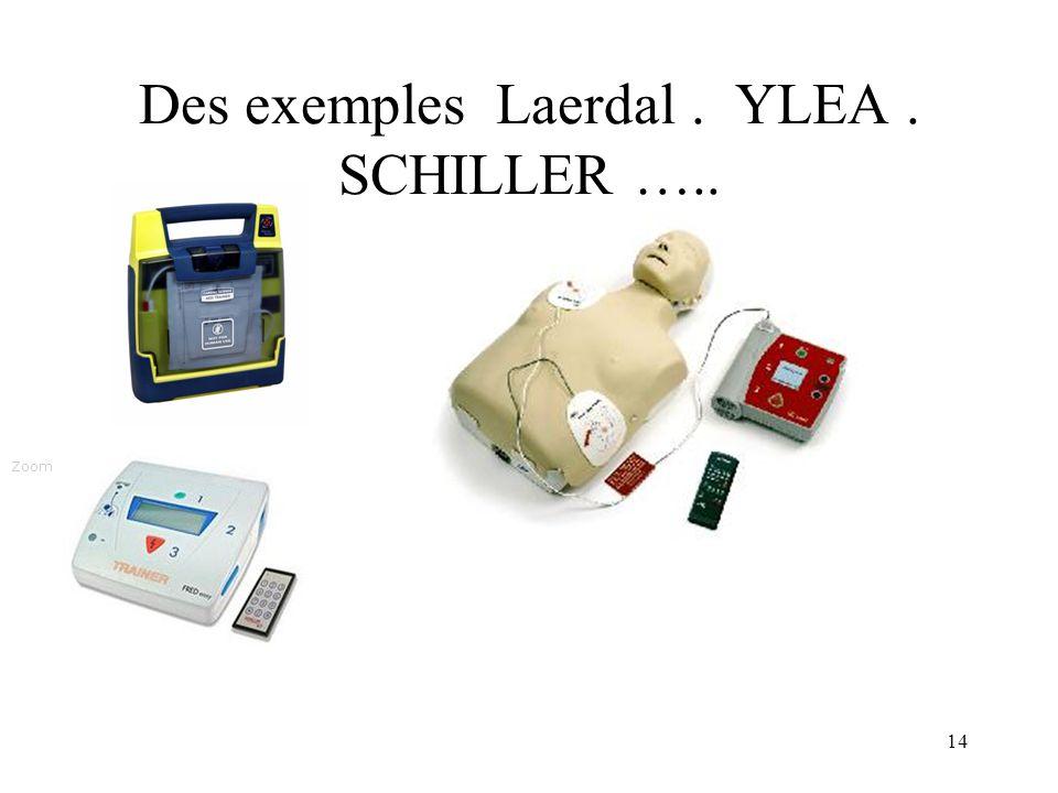 14 Des exemples Laerdal. YLEA. SCHILLER ….. Zoom