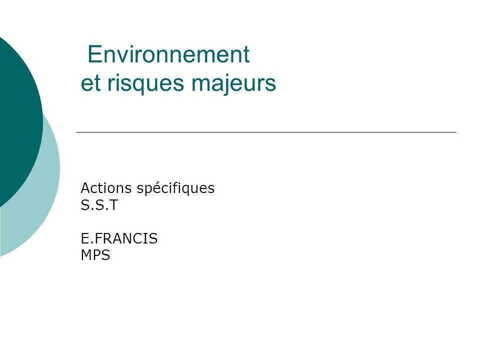 Environnement et risques majeurs Source EF