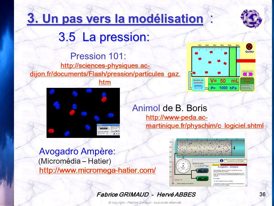 Fabrice GRIMAUD - Hervé ABBES © copyright - Fabrice Grimaud - tous droits réservés 36 Avogadro Ampère: (Micromédia – Hatier) http://www.micromega-hati