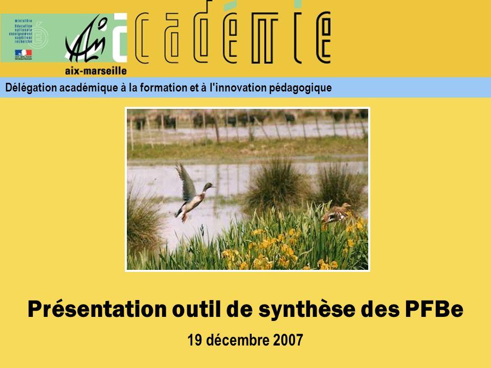 Outil de saisie PFBe http://webasp.ac-aix-marseille.fr/dafip/pfbe.asp Saisie du mot de passe prescription, puis [OK] Cliquer sur le lien