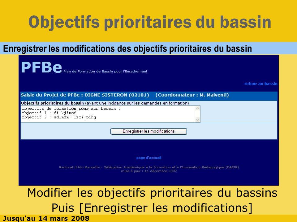Exprimer une demande Expression d une demande en 10 phases 6 phases de sélection : listes déroulantes 4 phases d expression : texte libre Jusqu au 14 mars 2008