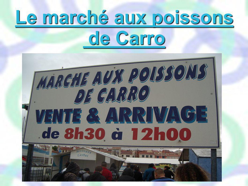 Le marché aux poissons de Carro