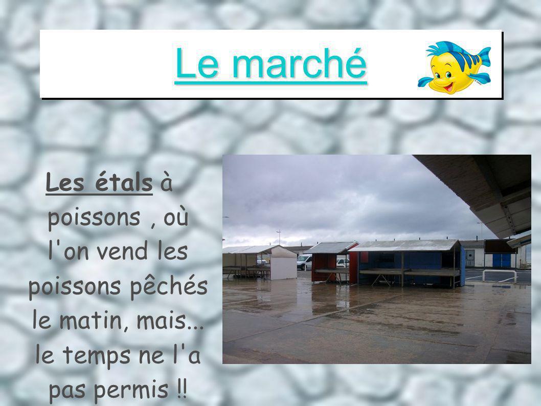 Le marché Les étals à poissons, où l on vend les poissons pêchés le matin, mais...