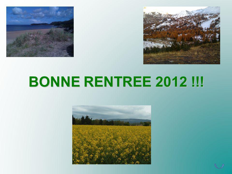 BONNE RENTREE 2012 !!!