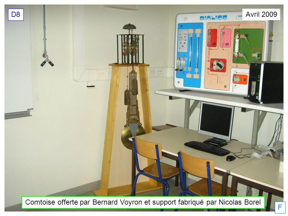 Comtoise offerte par Bernard Voyron et support fabriqué par Nicolas Borel Avril 2009 D8 F