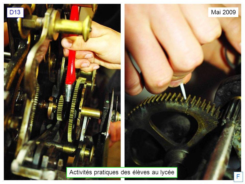 Activités pratiques des élèves au lycée Mai 2009 D13 F