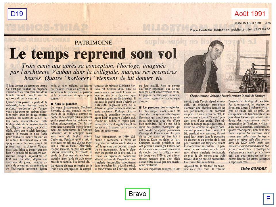 Bravo Août 1991 D19 F