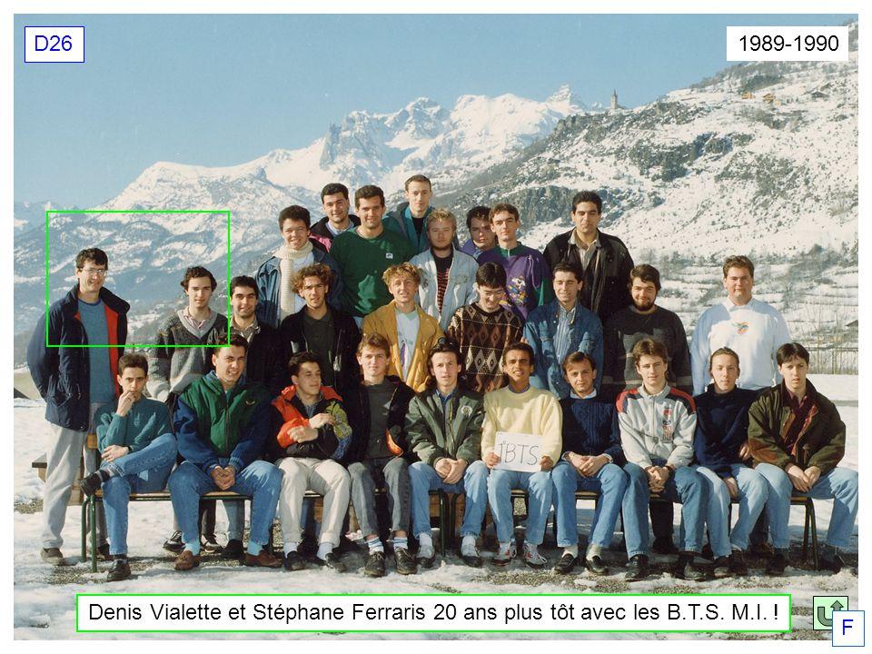 Denis Vialette et Stéphane Ferraris 20 ans plus tôt avec les B.T.S. M.I. ! 1989-1990 D26 F