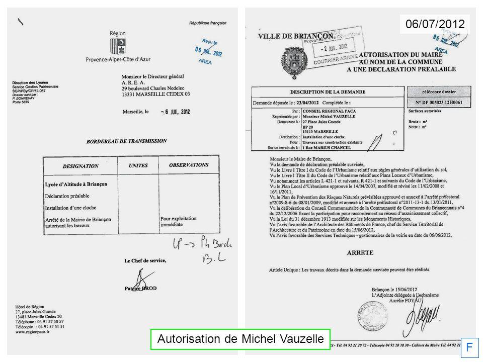 06/07/2012 Autorisation de Michel Vauzelle F