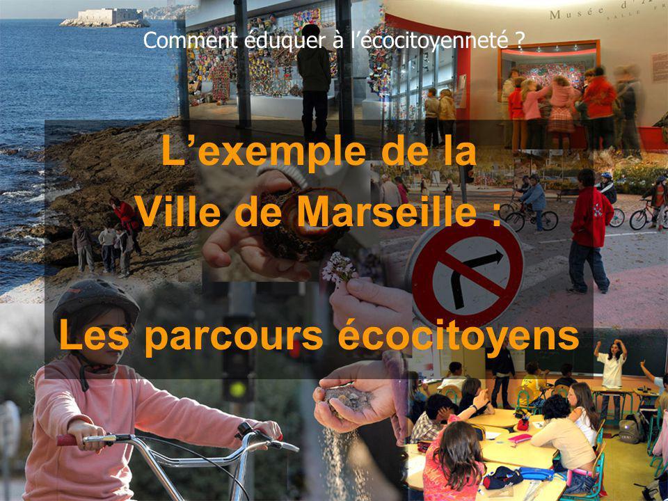 Lexemple de la Ville de Marseille : Les parcours écocitoyens Comment éduquer à lécocitoyenneté ?