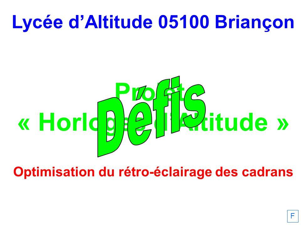Yves Cordier, 31/01/2011 Équinoxe 31/07 30/09 30/11 F Recherche dune programmation optimale