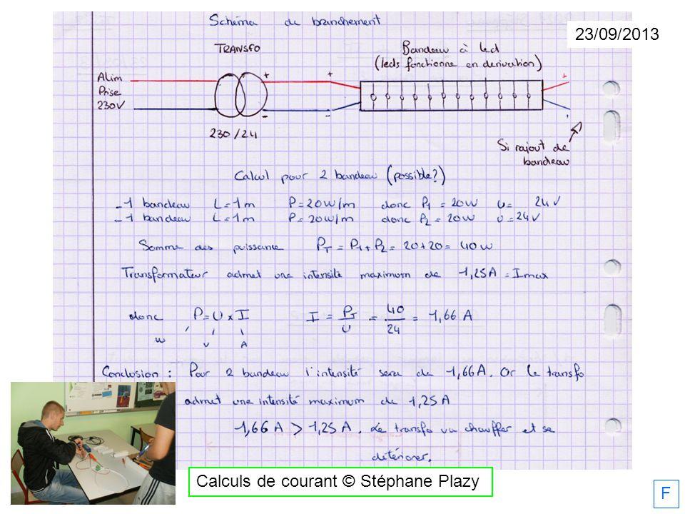 Calculs de courant © Stéphane Plazy 23/09/2013 F