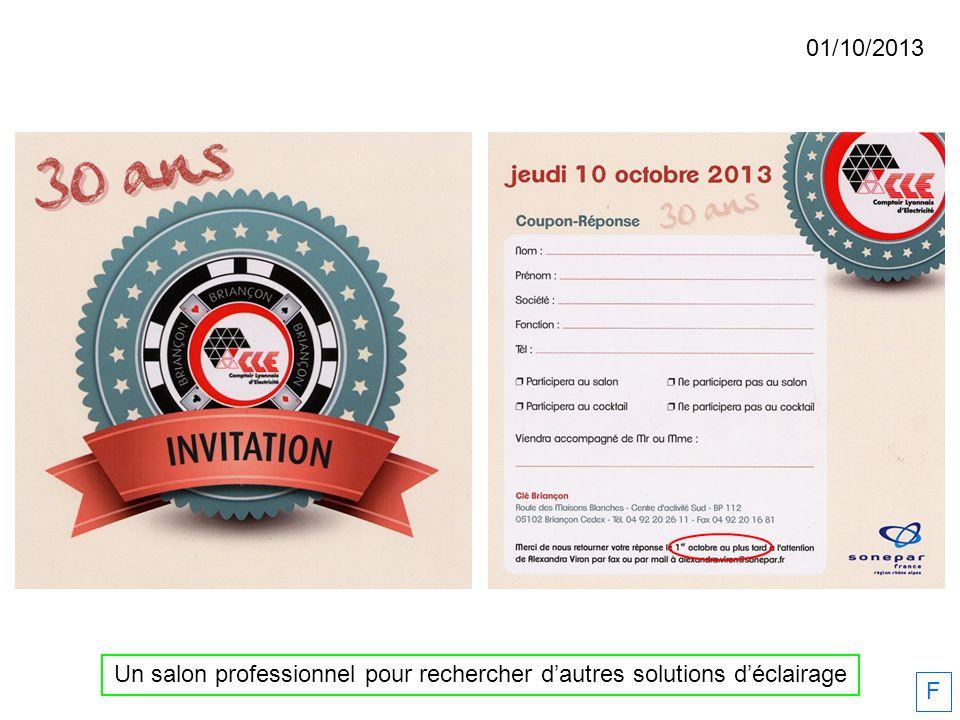 01/10/2013 Un salon professionnel pour rechercher dautres solutions déclairage F