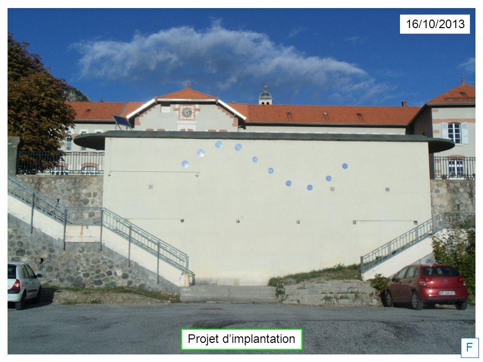 16/10/2013 Projet dimplantation F
