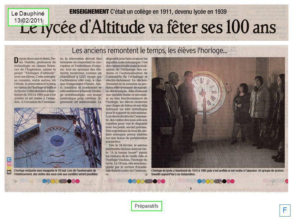 F Le Dauphiné 13/02/2011 Préparatifs
